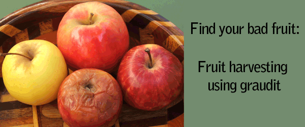 Fruit Harvesting using graudit: Find your bad fruit