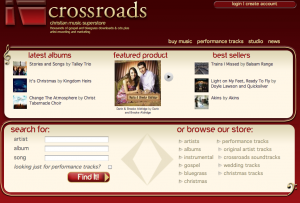 Crossroads Music Frontpage, November, 2010